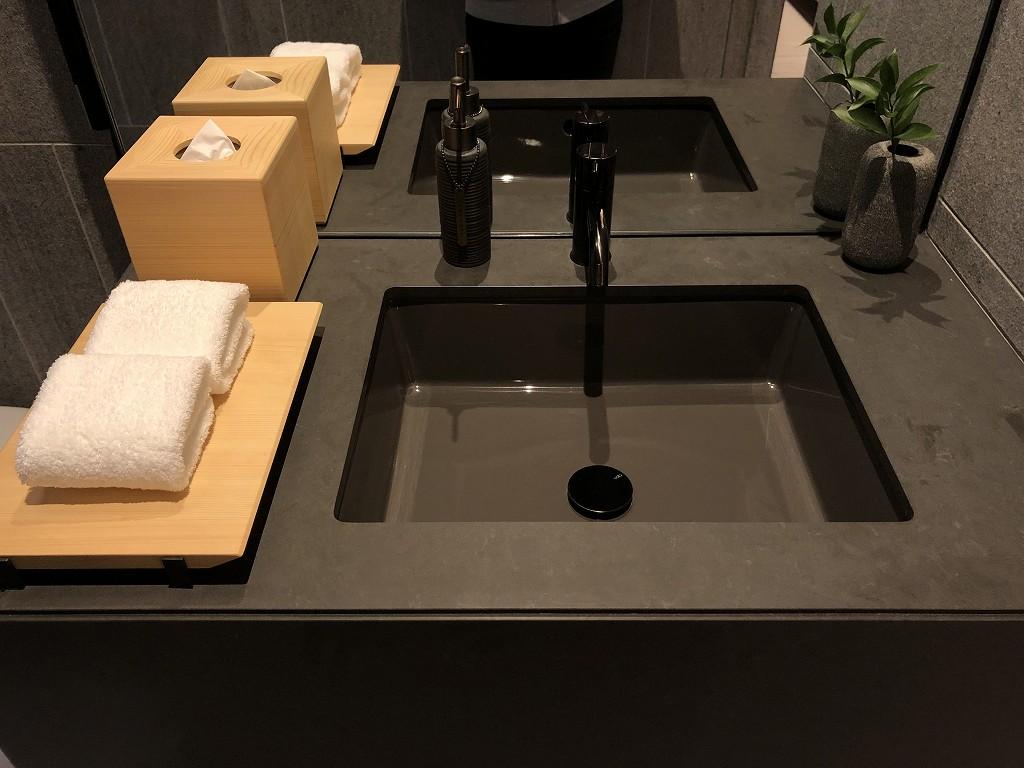 アマン京都の「芒」の洗面所2