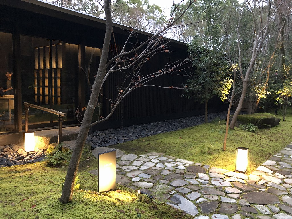 アマン京都のアマンスパの入り口