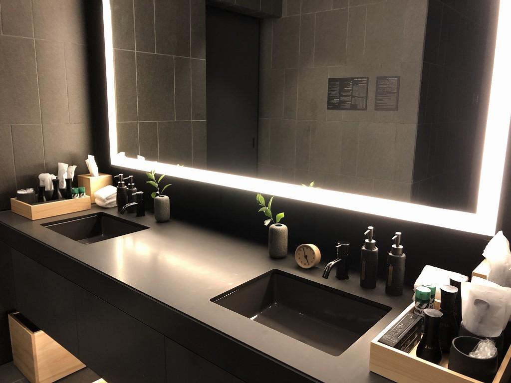 アマン京都のアマンスパの更衣室