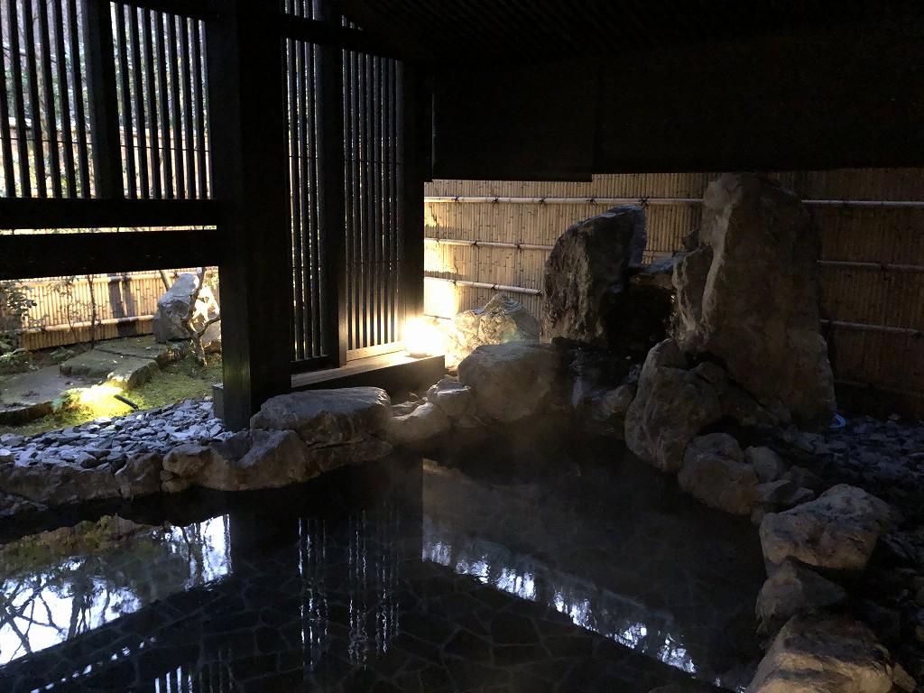 アマン京都のアマンスパの露天風呂2