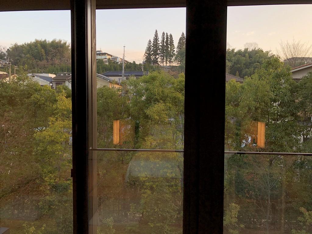 アマン京都の「芒」からの朝の風景