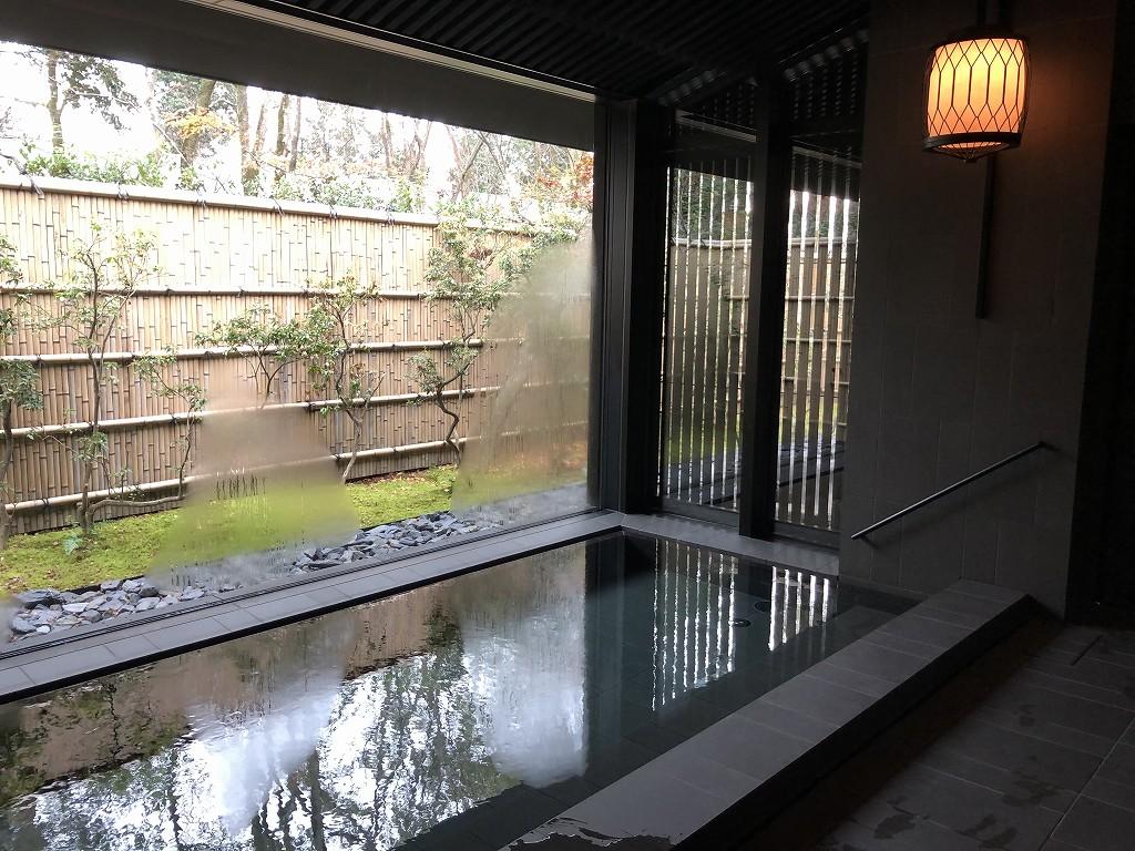 アマン京都のアマンスパ(朝)の内風呂2