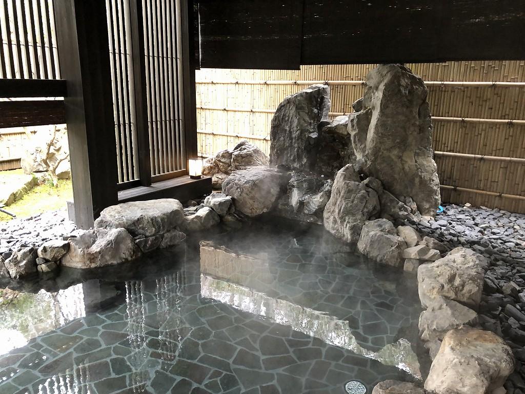 アマン京都のアマンスパ(朝)の露天風呂2
