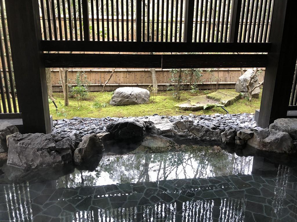 アマン京都のアマンスパ(朝)の露天風呂3