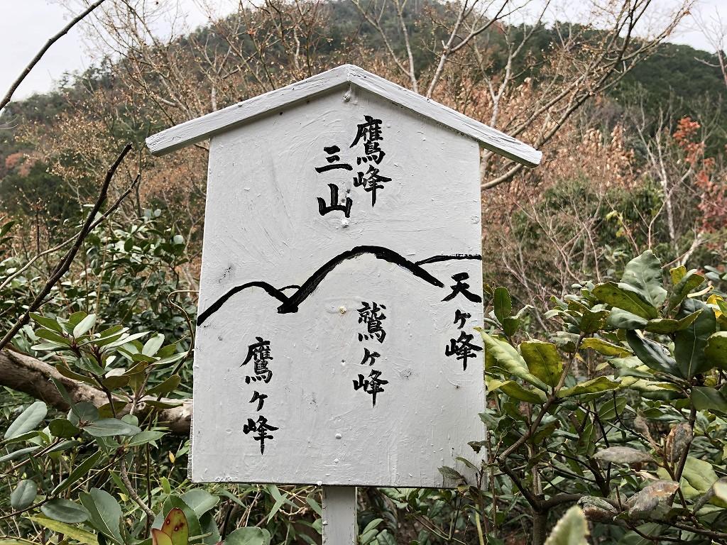 光悦寺の鷹峰三山の説明