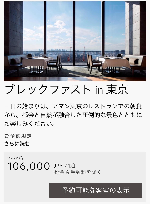 アマン東京の公式サイト2