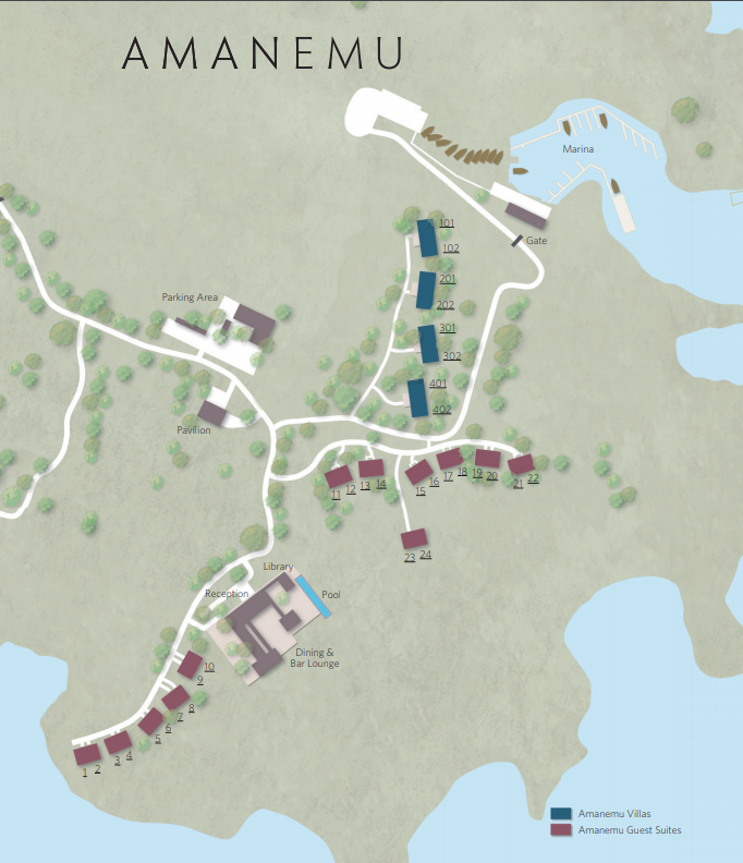 アマネムのマップ