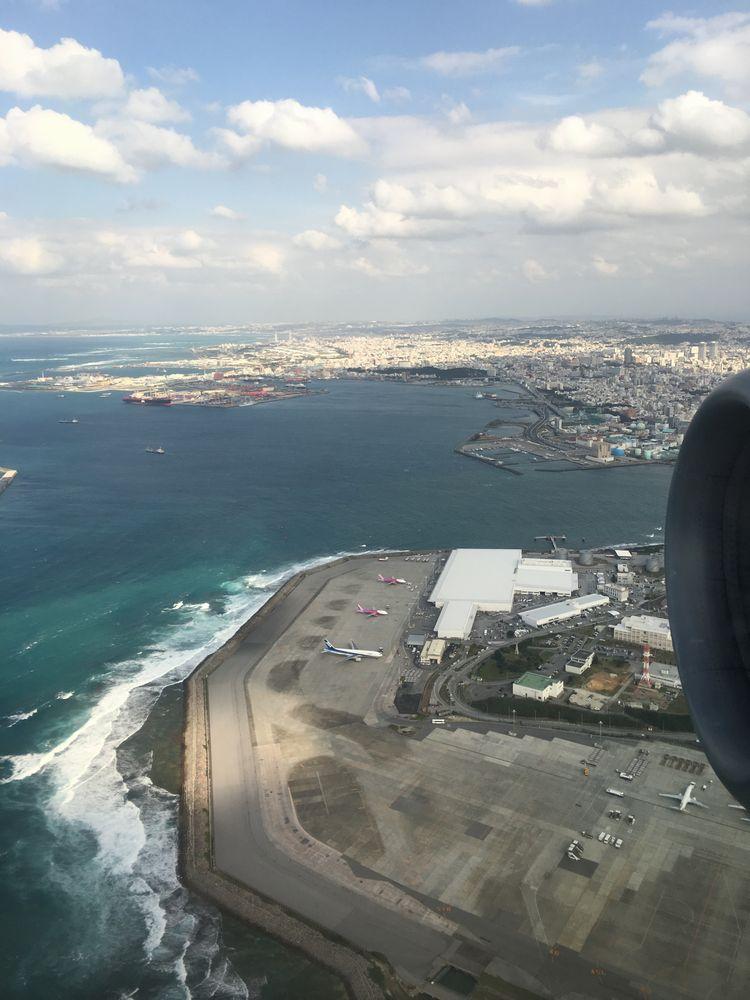 ANA1884便から見た那覇市