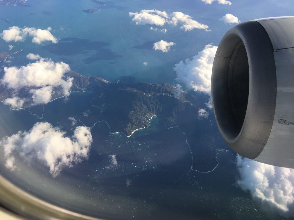 ANA1884便から見た佐田岬