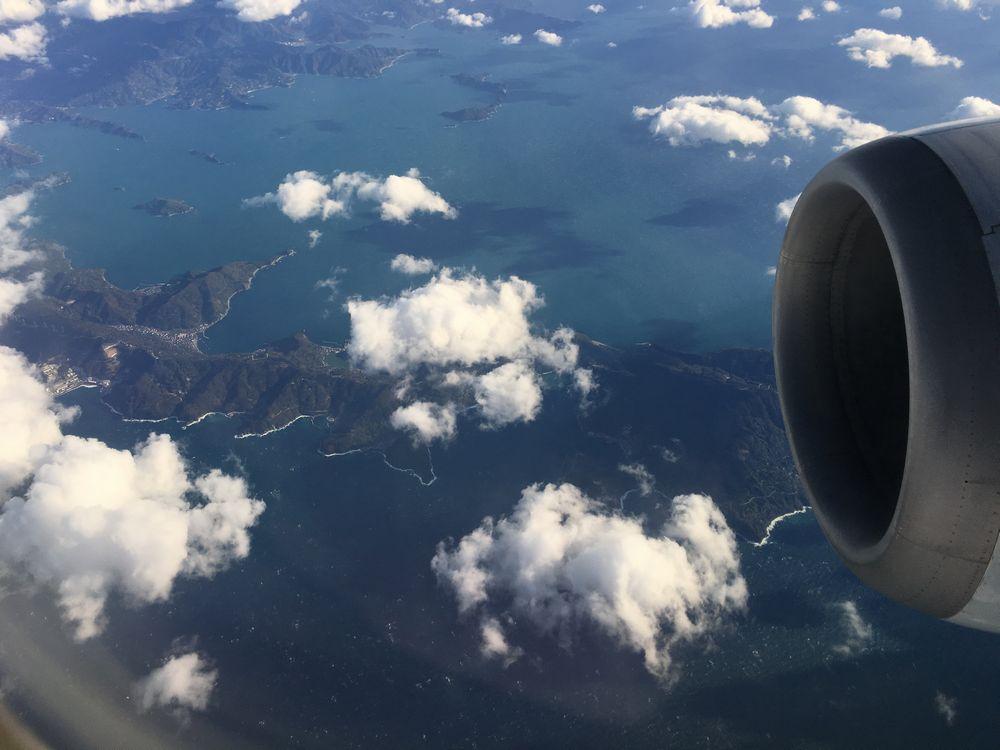 ANA1884便から見た伊方原発