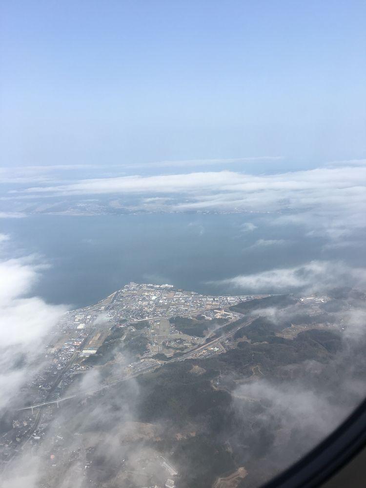 空から見た宍道湖