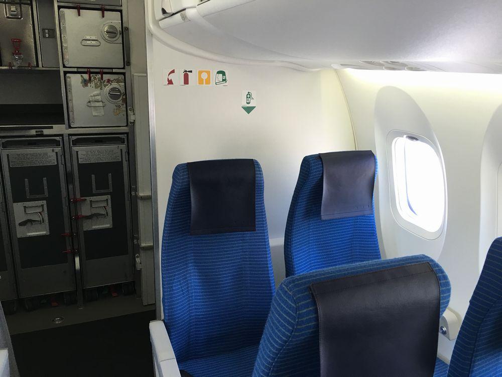 ANA4955の最後尾座席