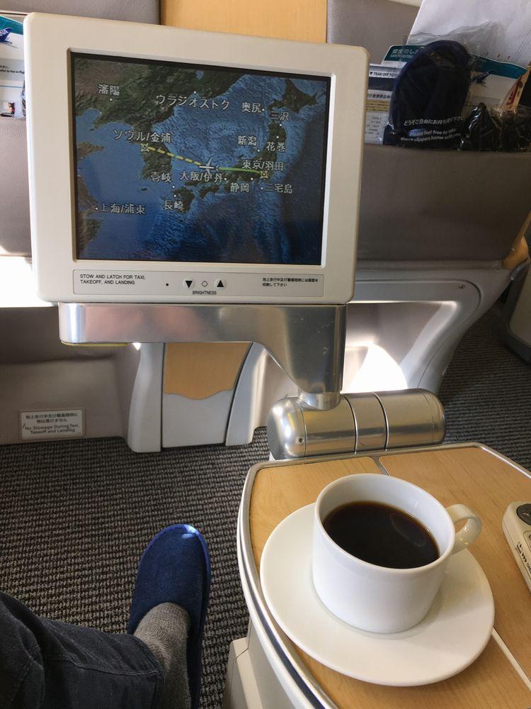 ANA861便(羽田-ソウル金浦)のフライトマップ