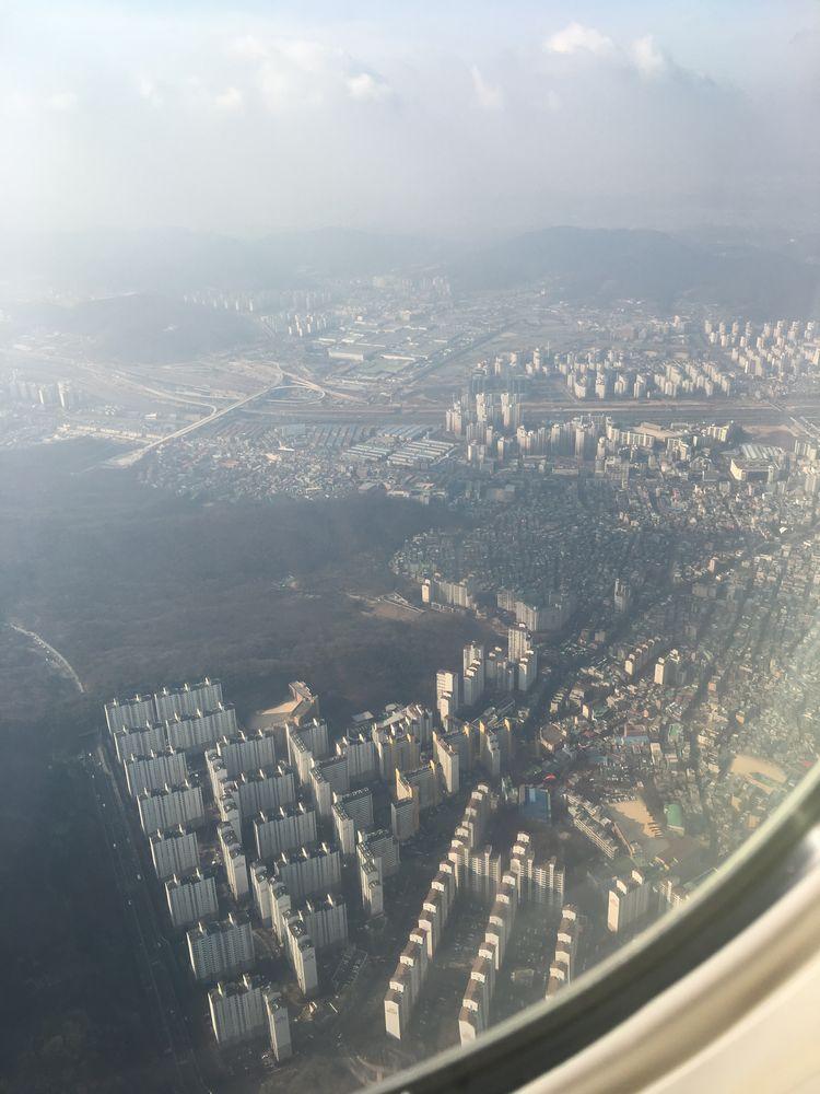 ソウルの衿川区上空1