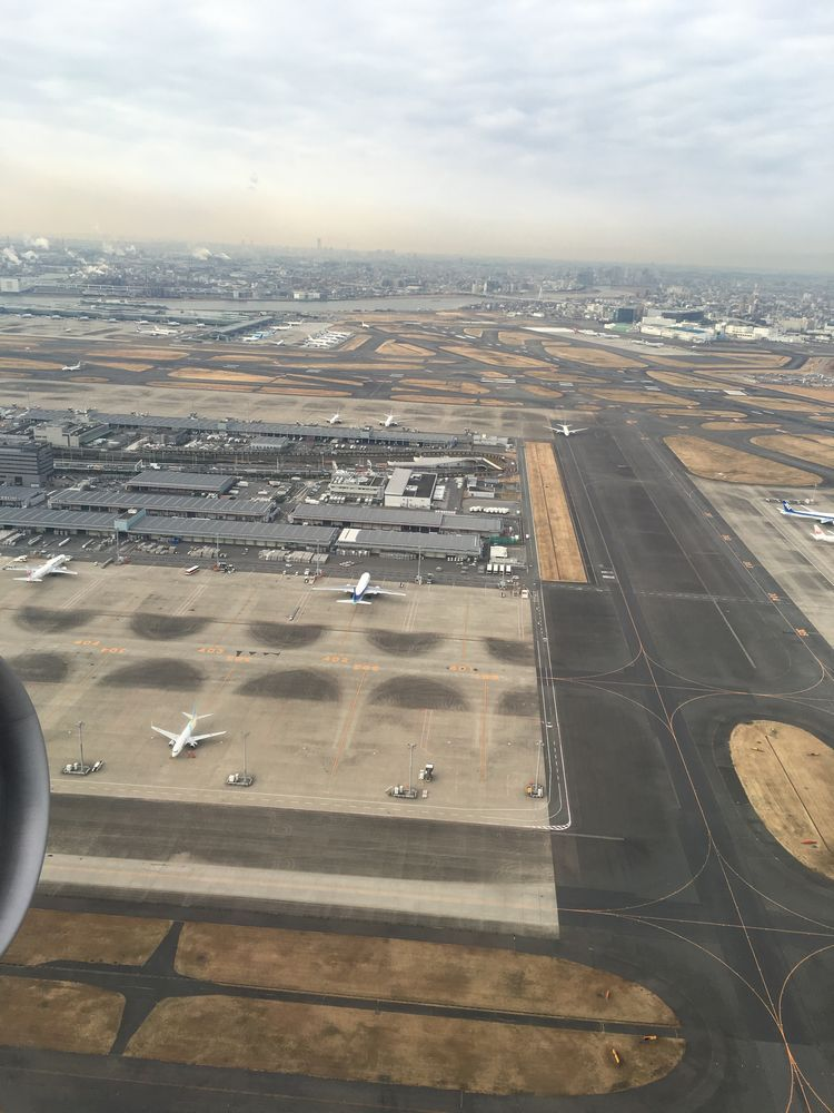 空から見た羽田空港国際線ターミナル