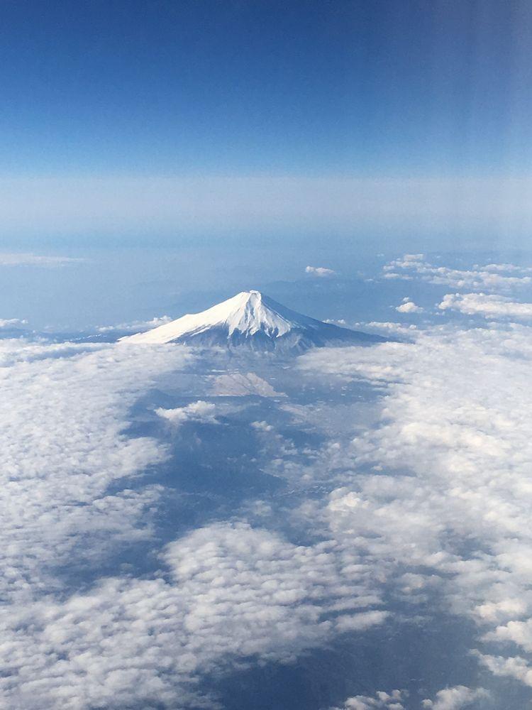 ANA861便(羽田-ソウル金浦)から見た富士山