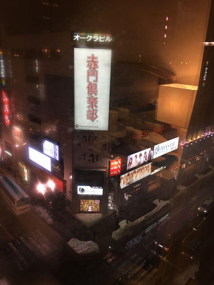ANAホリデイ・イン札幌すすきのの窓外の風景
