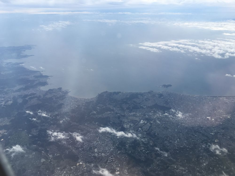 ANA533便から見た江ノ島