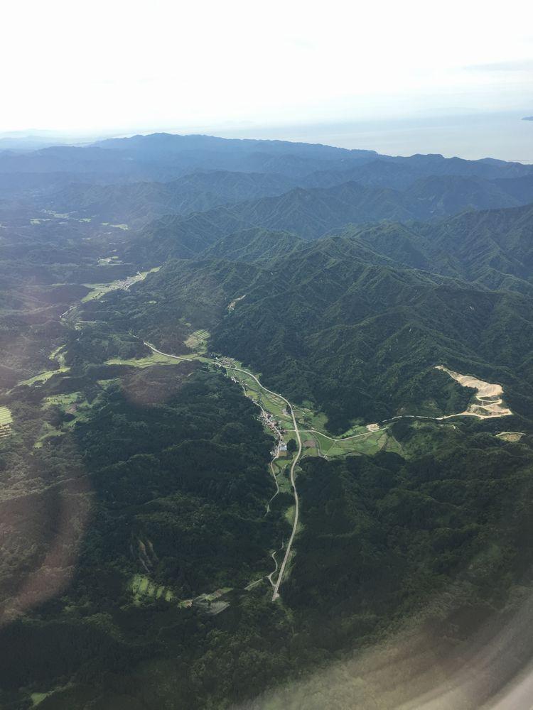 NH395から朝日山地