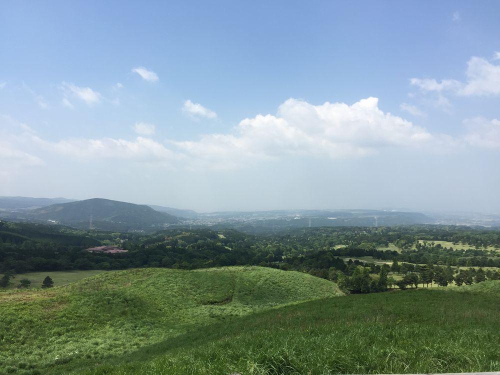 大峰山と高遊原台地画像