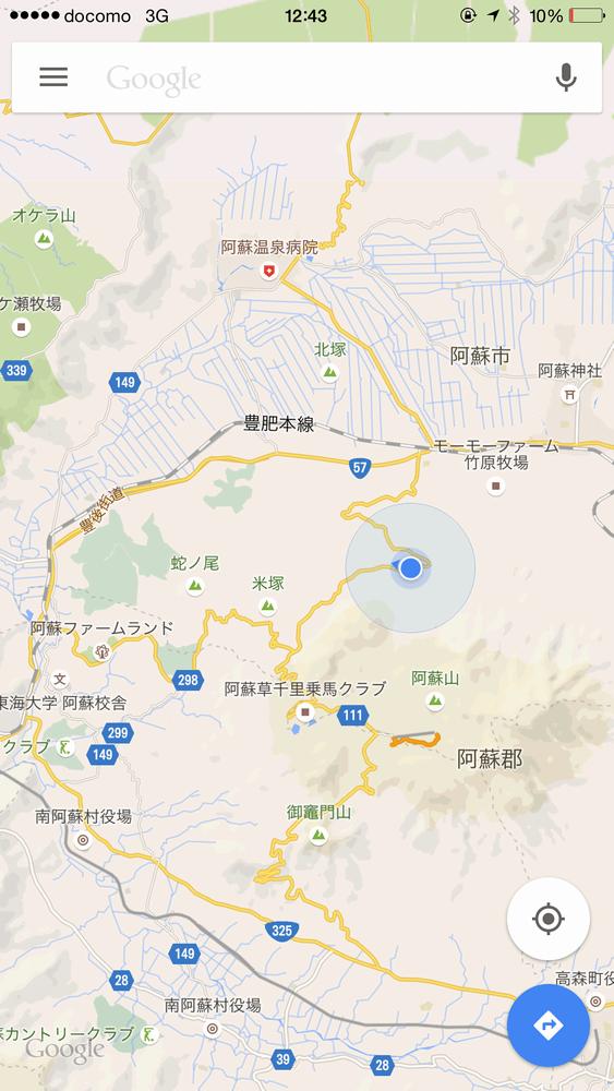 阿蘇山Google Map画像