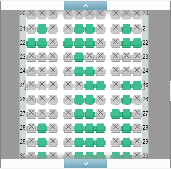 BAマイル→JAL国内線特典航空券で座席指定の範囲(JGC会員)