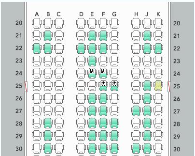 有償でのJAL座席指定の幅(JGC会員)
