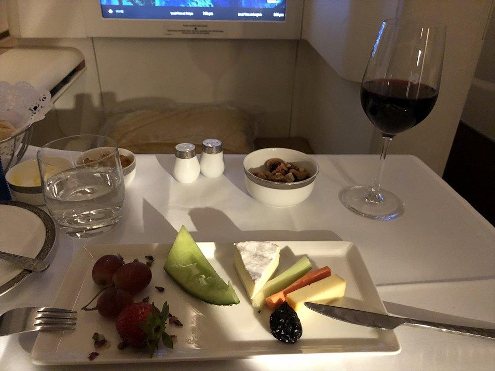 タイ国際航空(TG)677便のファーストクラスの機内食9