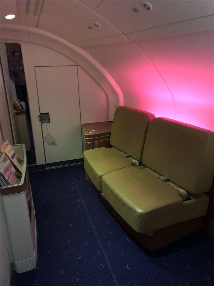 タイ国際航空(TG)A380のファーストクラスのラウンジスペース