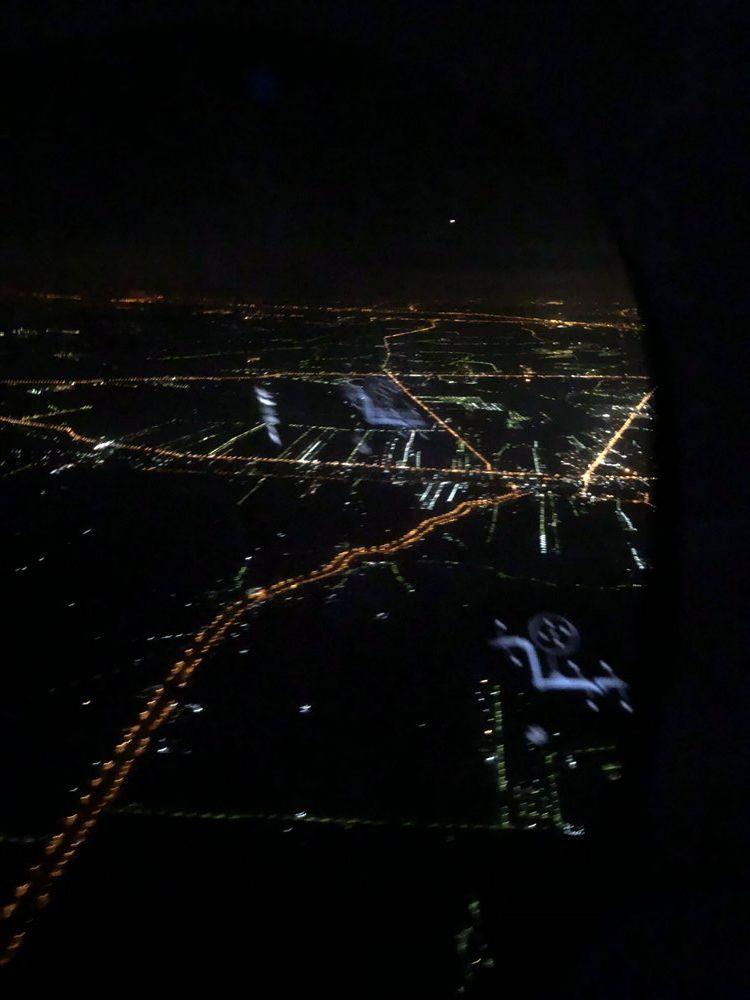タイ国際航空(TG)677便から見たバンコクの夜景