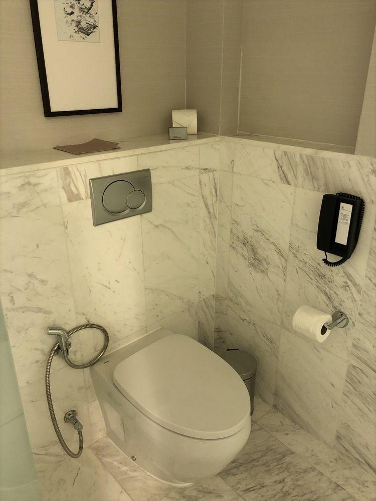 バンコクマリオットホテルスクンビットのプレミアデラックスルーム(トイレ)