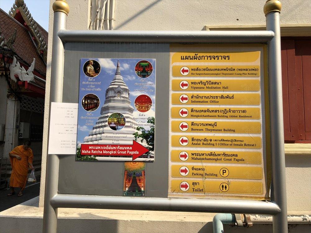 ワットパクナムの仏塔の案内