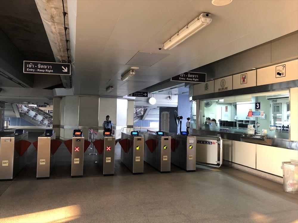 BTSのBang wa駅の改札