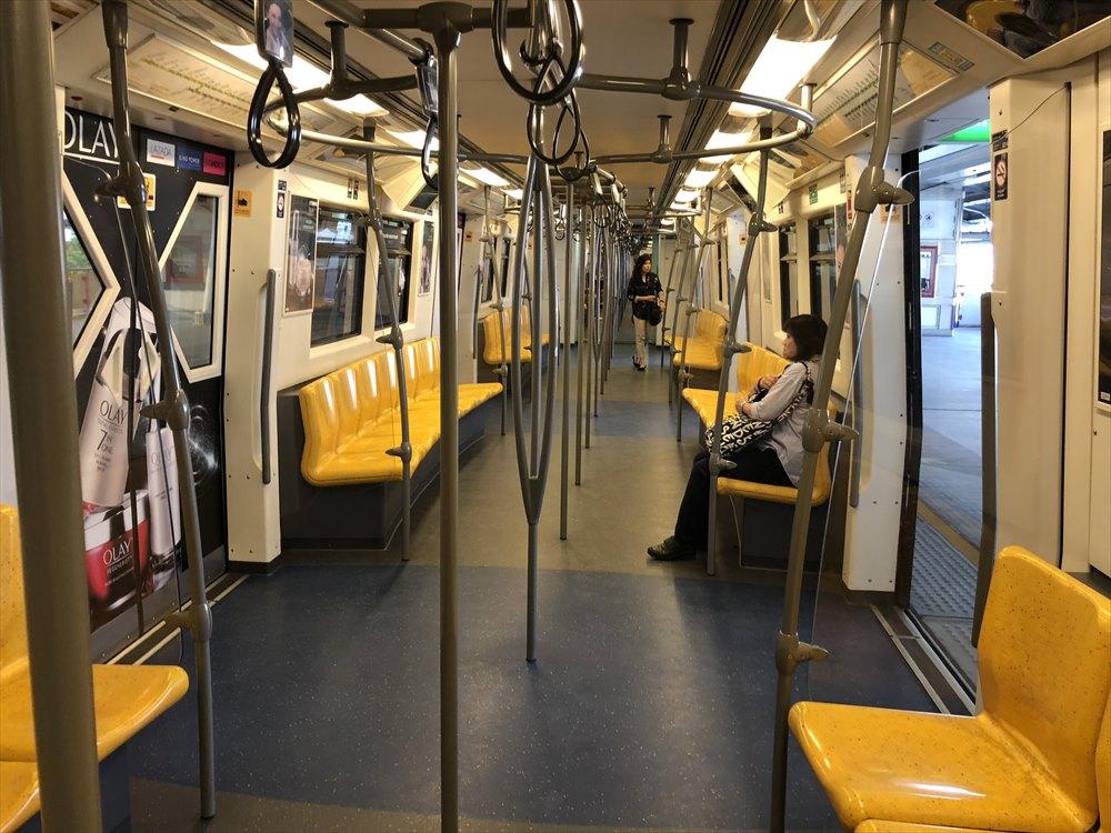 BTSの電車内