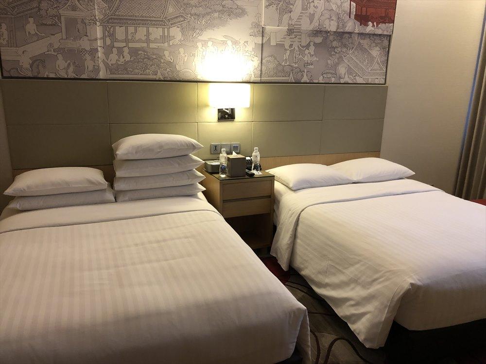 バンコクマリオットホテルスクンビットの枕の配分