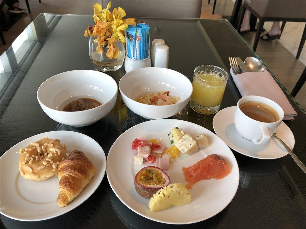 バンコクマリオットホテルスクンビットのエグゼクティブラウンジの朝食(2日目)