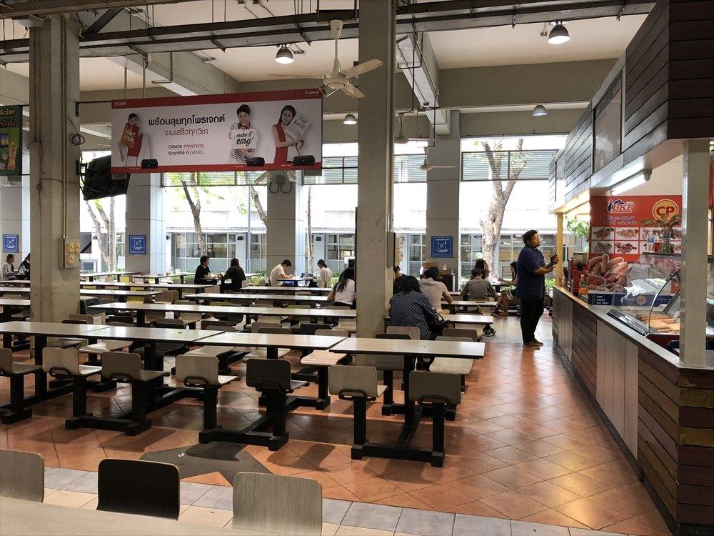 バンコク大学の食堂1