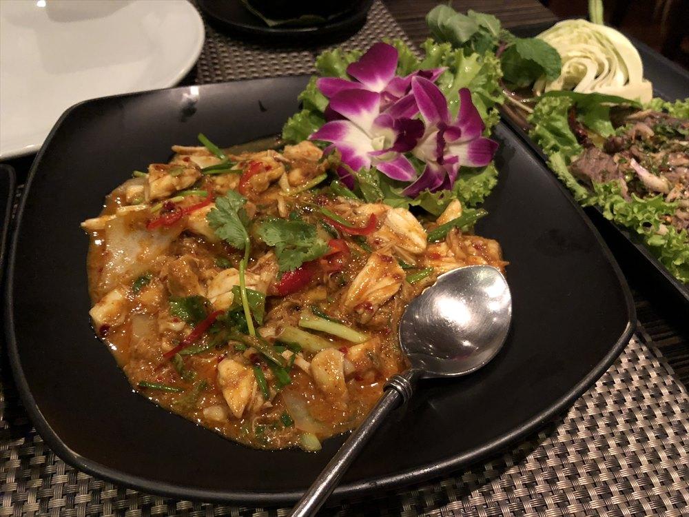 RUEN URAIの蟹肉たっぷりの炒め物