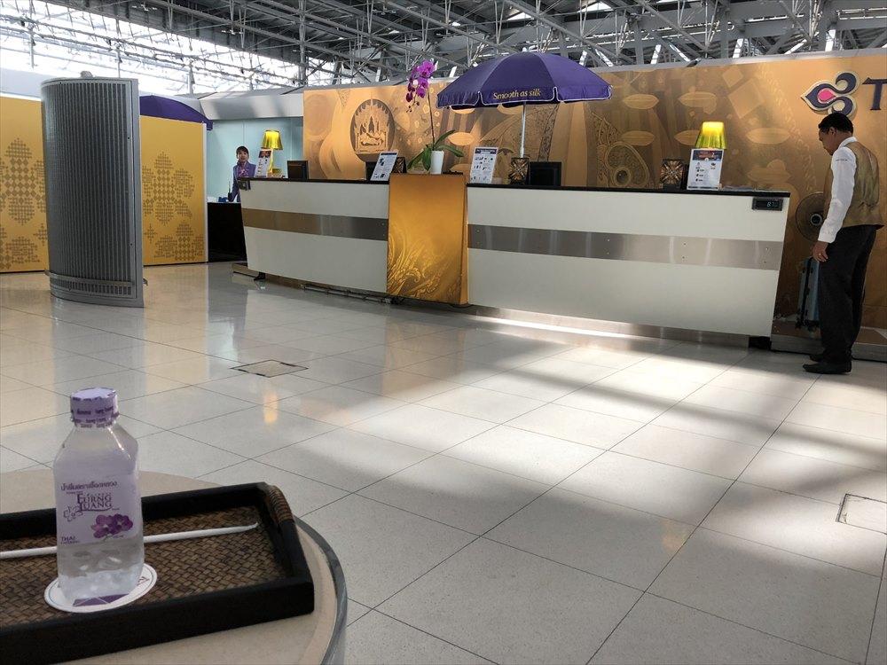 スワンナプーム国際空港のロイヤルファーストクラスチェックインカウンター