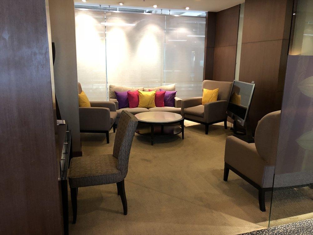 スワンナプーム国際空港のロイヤルファーストラウンジの個室