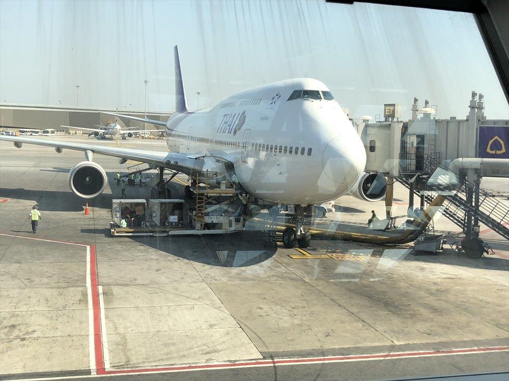 B747機材のTG660便