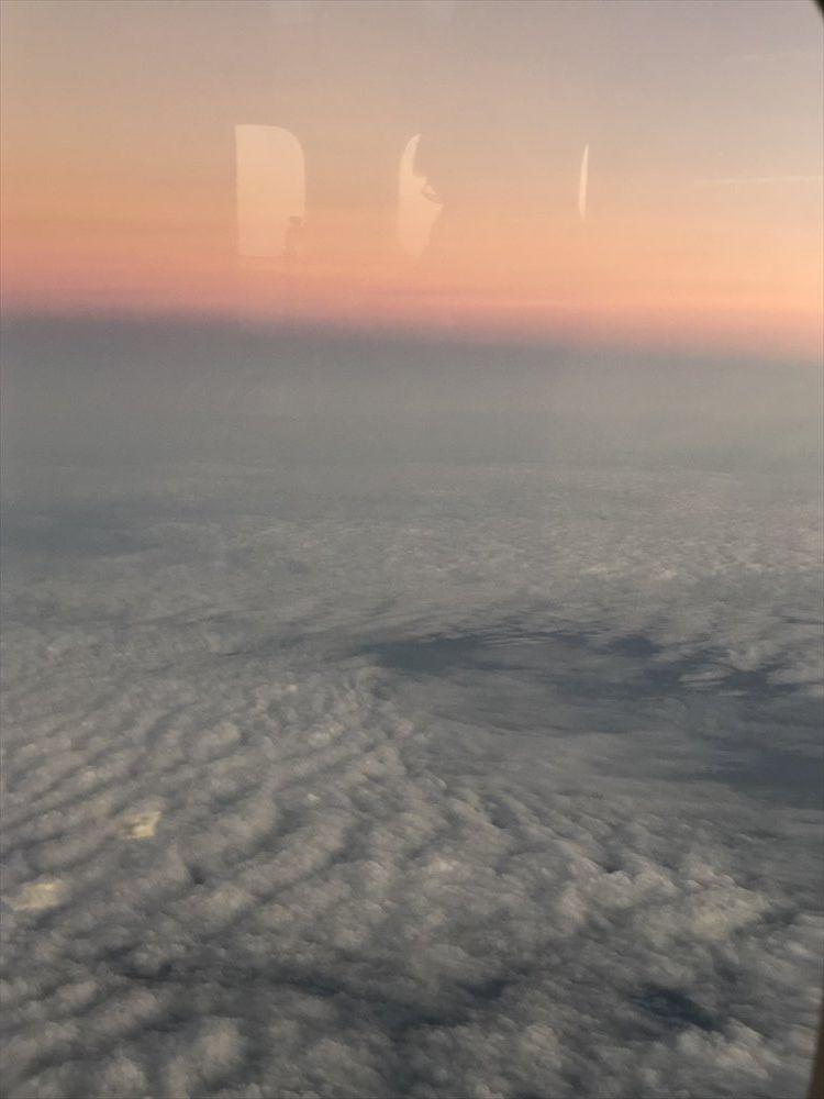 TG660便から見た夕暮れ