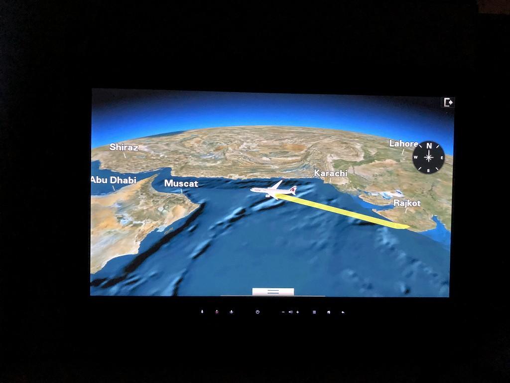 カタール航空のQR813便のQsuiteの航路