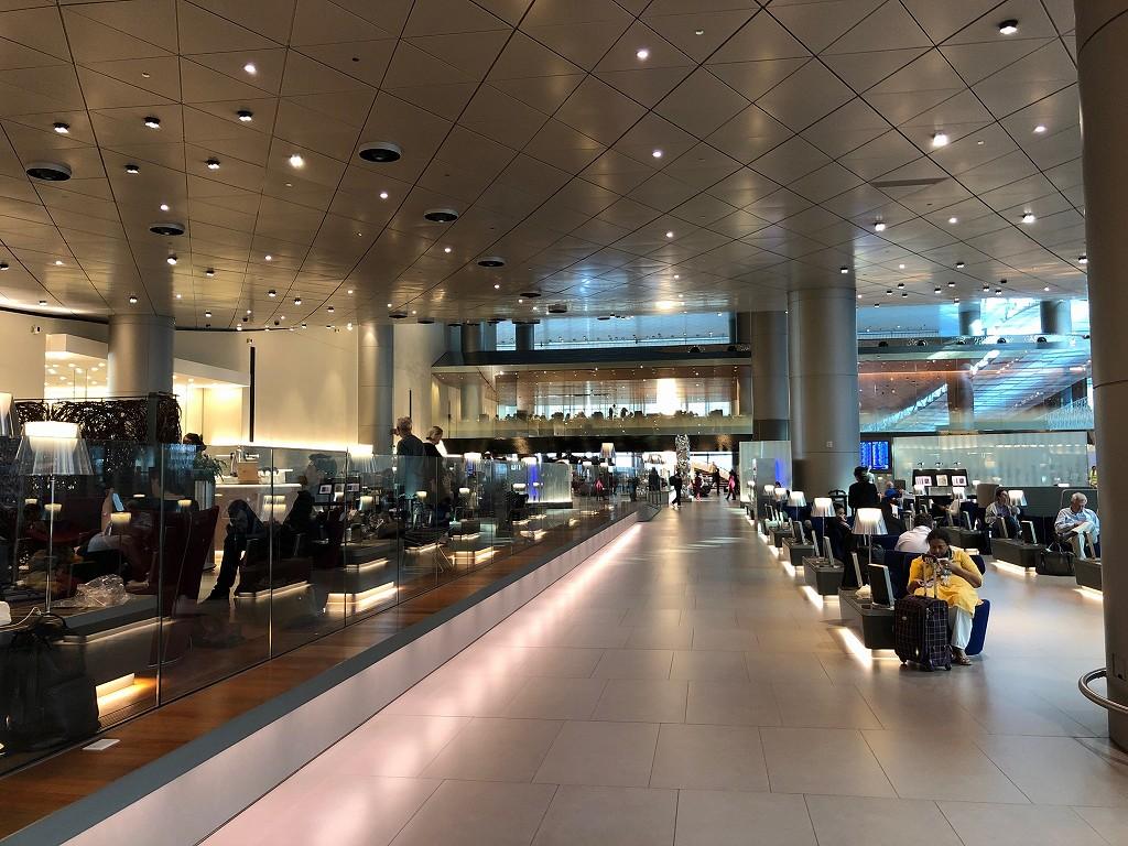 ドーハ空港 アル・ムルジャン ビジネスクラス ラウンジの内観