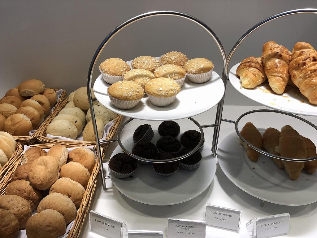 ドーハ空港 アル・マハ ラウンジのパン類
