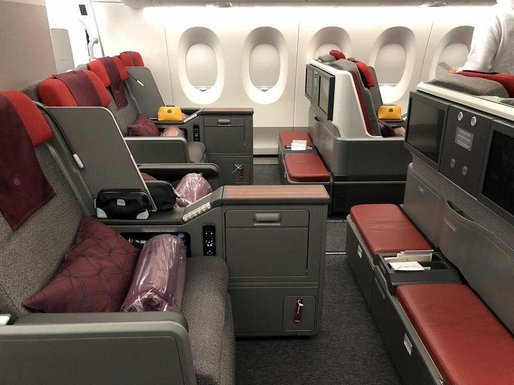 カタール航空のQR145便ビジネスクラス(A350-900機材)の座席2