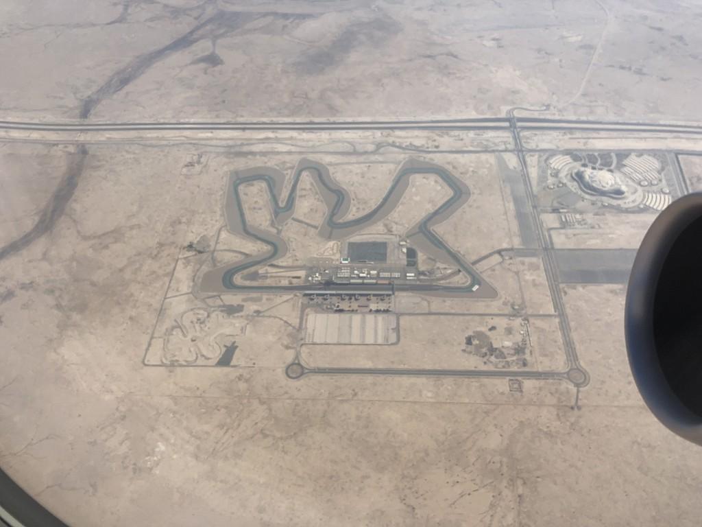 カタール航空のQR145便ビジネスクラス(A350-900機材)からの白い大地