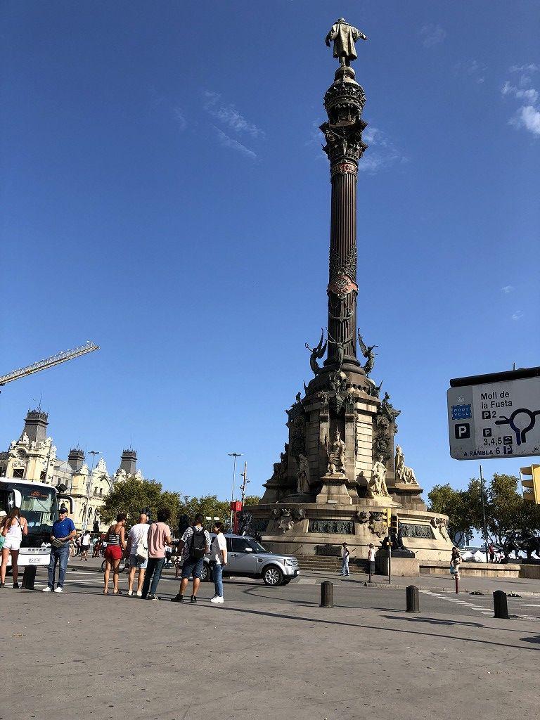バルセロナのコロンブスの塔