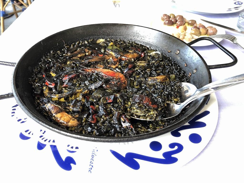 バルセロナのSALAMANCAのブラックパエリア1