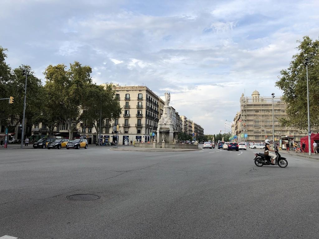 バルセロナの広い道路